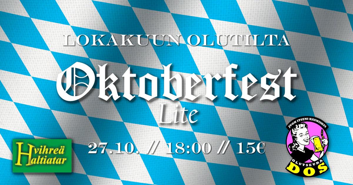 Lokakuun olutilta Vihreässä: Oktoberfest Lite